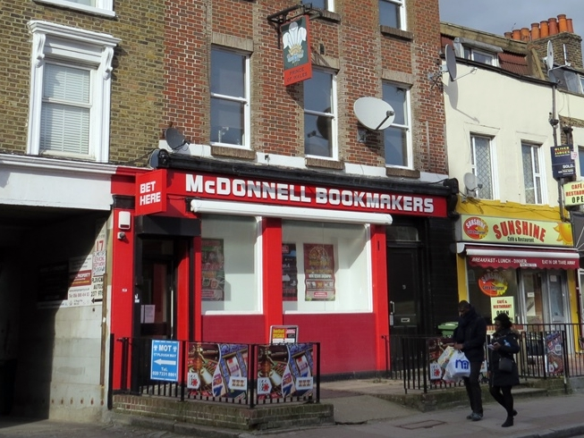 The closed down Prince of Wales in Rotherhithe, Se16 is now McDonnell Bookmakers