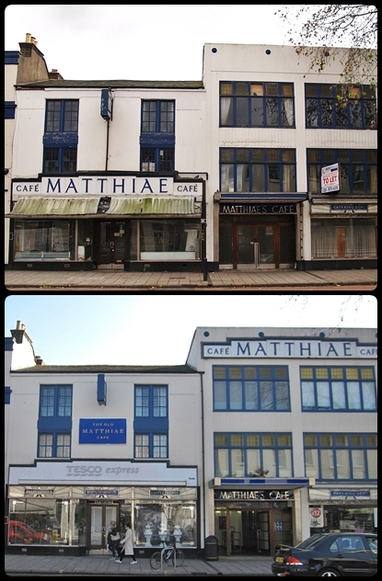Richmond, TW9 - The once derelict Matthiae Café  has now been converted into a Tesco supermarket