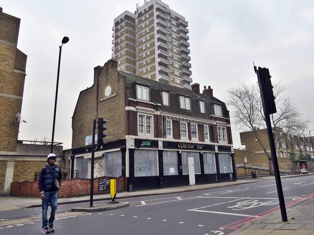 Peckham SE15,The closed down and boarded up Clayton Arms
