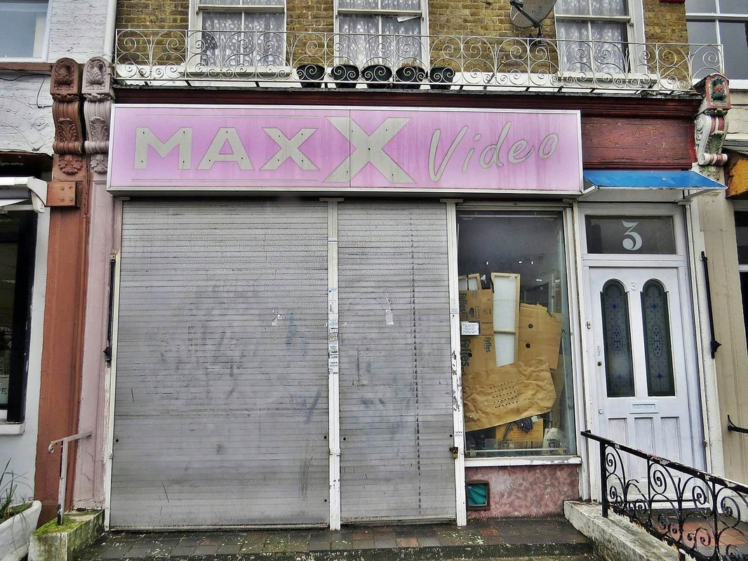 Derelict MAXX Video shop in Forest Hill, SE23