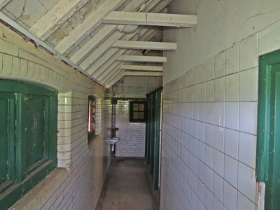 Interior of closed down public toilets in Avery Hill Park, Eltham SE9