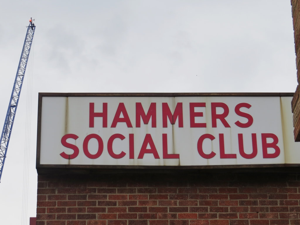 Hammers Social Club signage on former premises