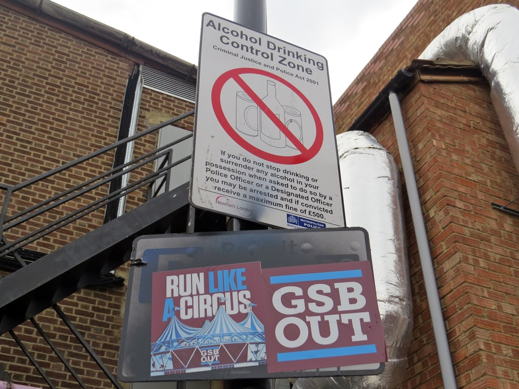 Run Like a Circus. GSB Out. West Ham United protest posters