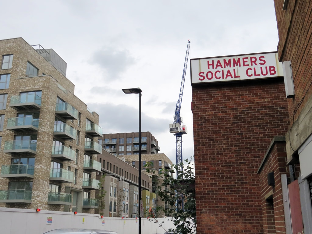 2020 picture of new flats on site of West Ham United's Boleyn Ground