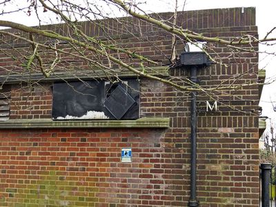 Derelict public toilets near Bruce Castle Museum London N17
