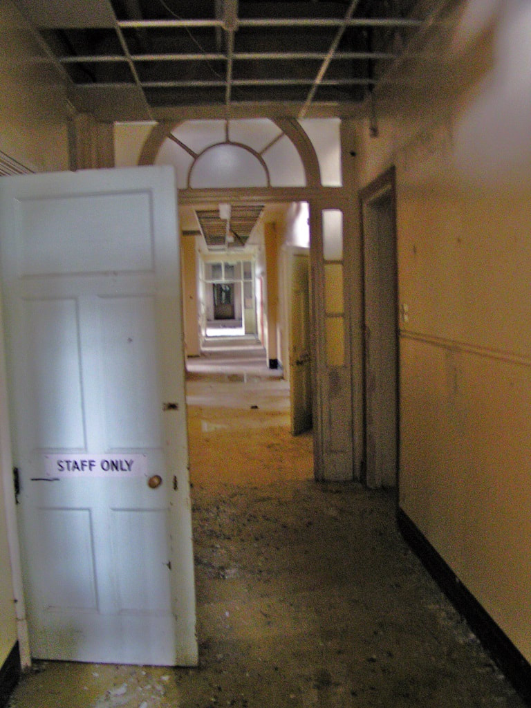 Picture of derelict interior of Colindale Hospital (aka Central London District Sick Asylum) in NW9
