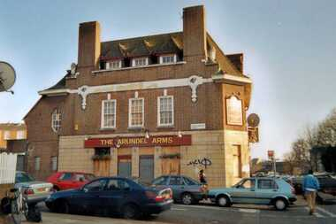 Arundel Arms pub on the Boleyn Road, Stoke Newington  closed in 2003 and demolished