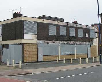 The closed down and derelict New Gog on Freemasons Road was on the site of a pub called The Royal Albert.