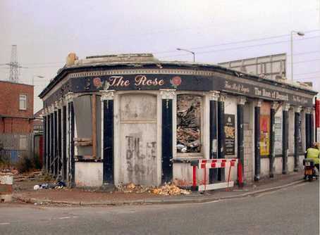 Rose of Denmark pub on Shirley Street, Canning Town was popular with dockers and used to open early in the morning for those workers having completed a night shift.