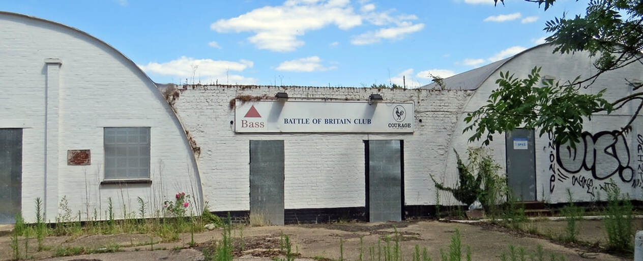 Picture The Battle of Britain RAF Club in Uxbridge consists of two prefabricated Nissen huts which were once part of a US Air Force field hospital in Prestwick, Scotland