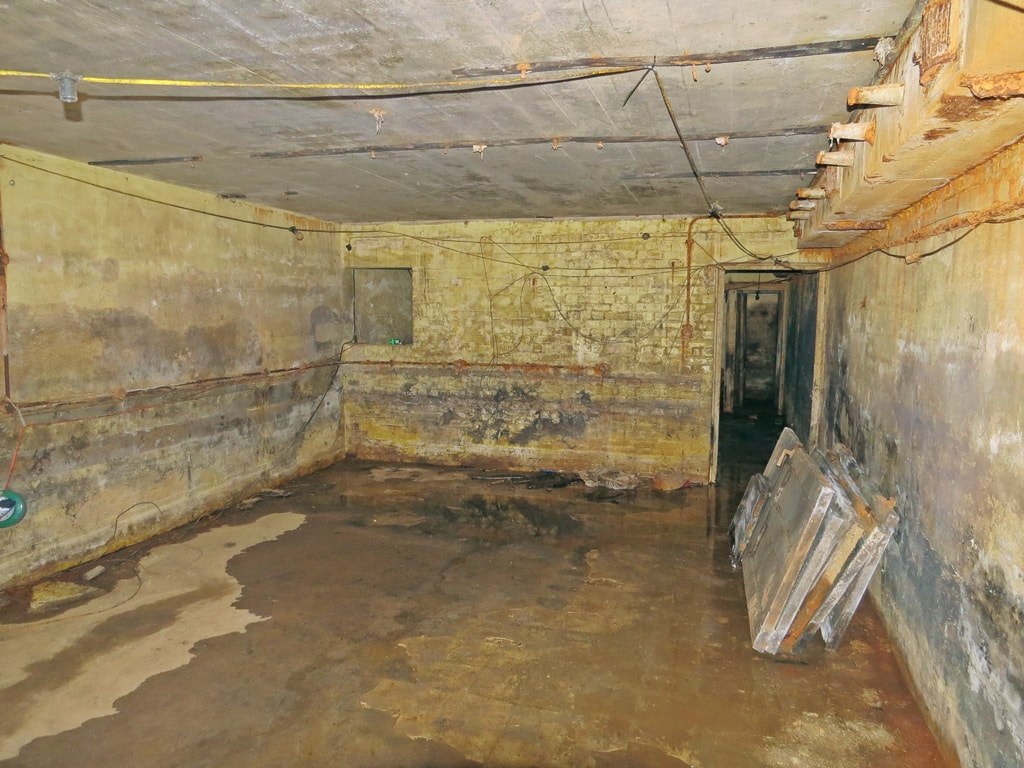 damp basement of former air raid/nuclear bunker beneath Finsbury Town Hall in Clerkenwell