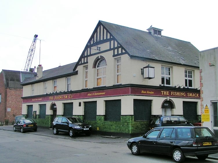 Abandoned Fishing Smack pub on Abbey Road Barking closed in 2003 and since demolished. Another ghost pub.