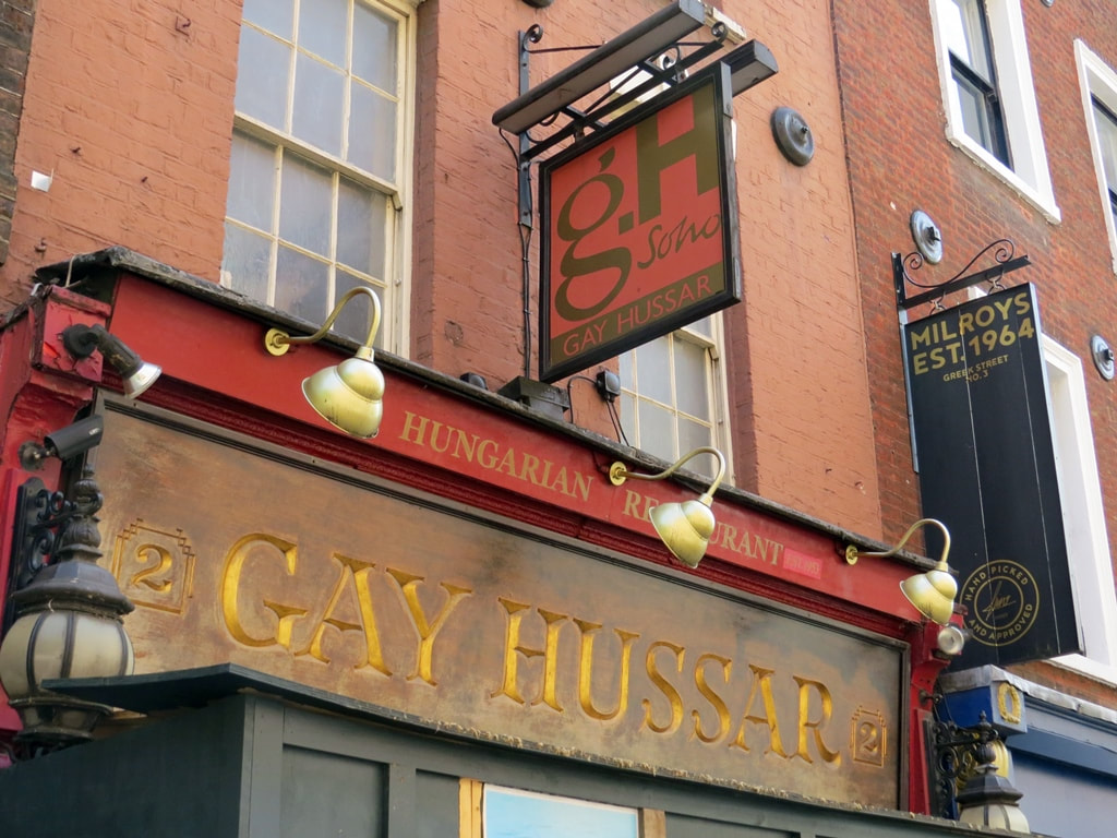 Diners at the Gay Hussar, Greek Street, Soho included T. S. Eliot,  Aneurin Bevan, Barbara Castle, Gordon Brown and Ian Mikardo.