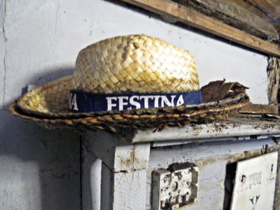 Festina hat in East London squat