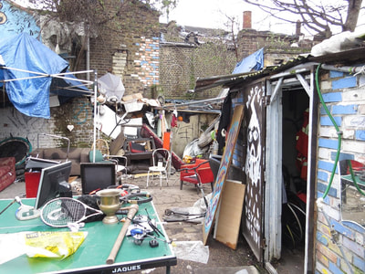 Squatters Own Junkyard in East London, E14