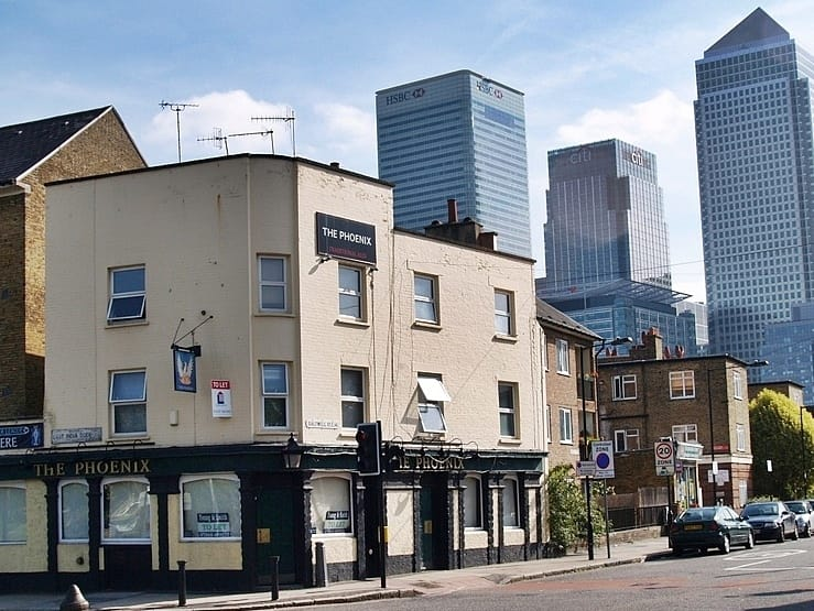 ​The Phoenix pub East India Dock Road closed & now demolished