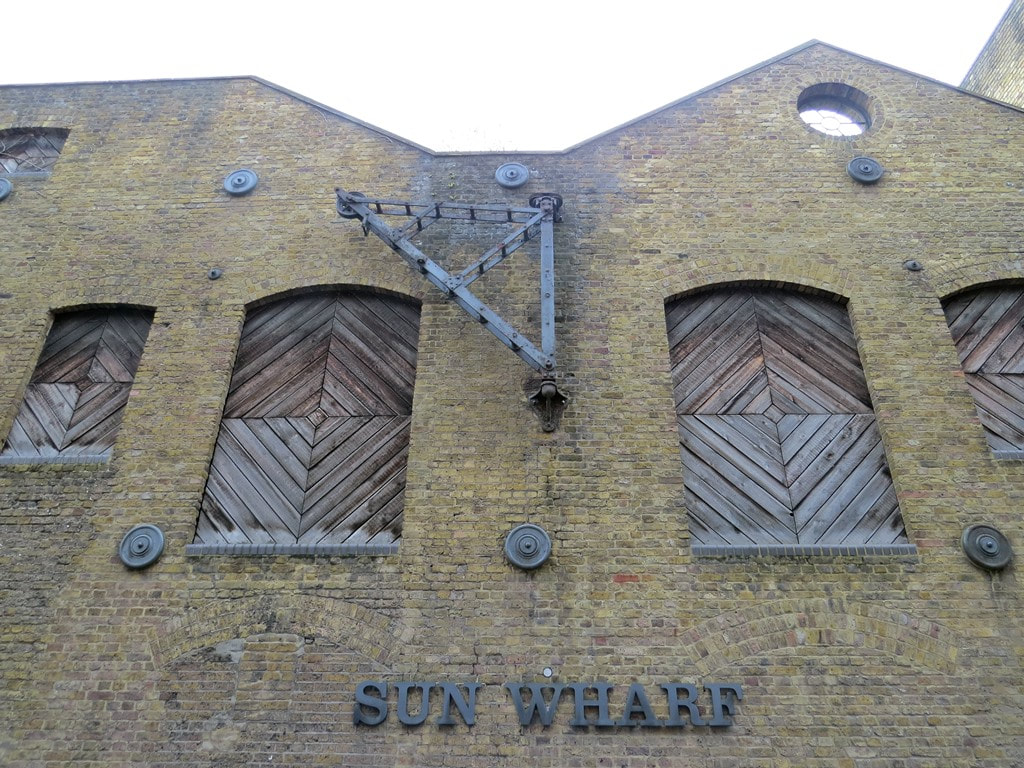 Sun Wharf on Narrow Street in Limehouse on  on Derelict London Walking Tour