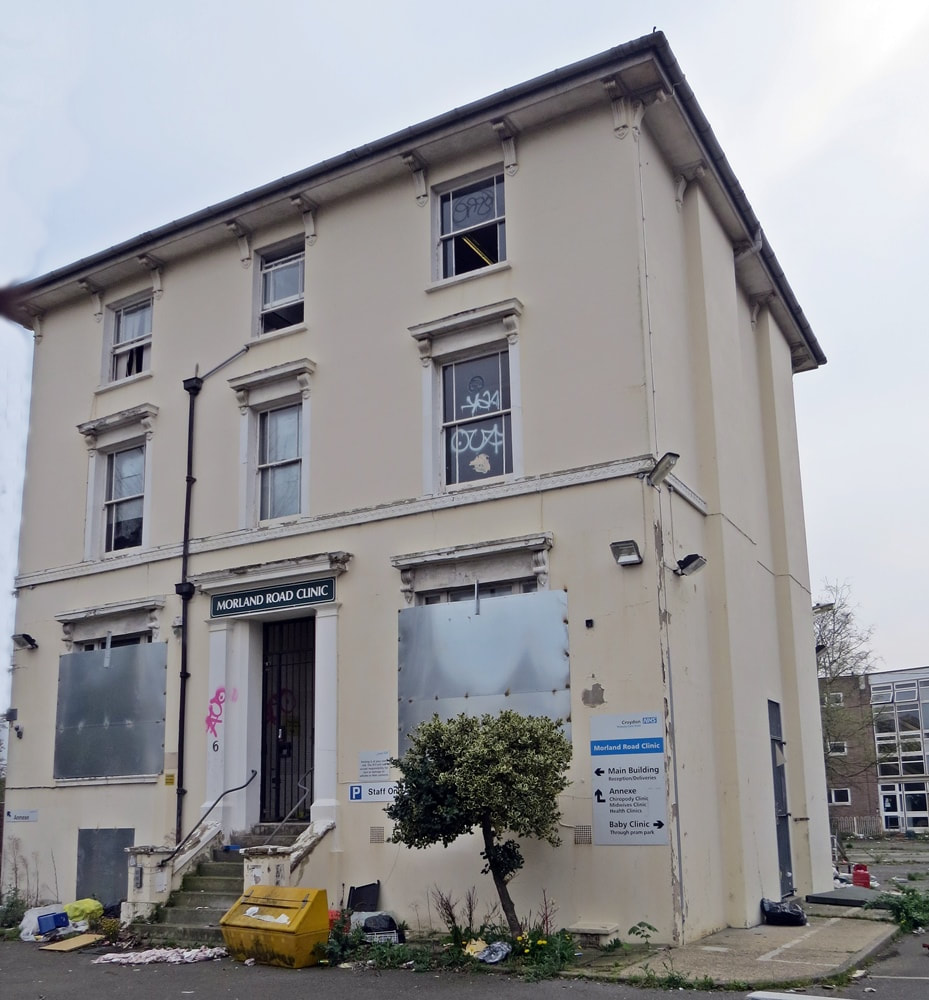 Picture of derelict 6 Morland Road, Croydon aka Robin House aka Morland Road Clinic