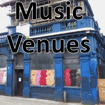 Link to Derelict London webpage on lost pubs and clubs that hosted live bands