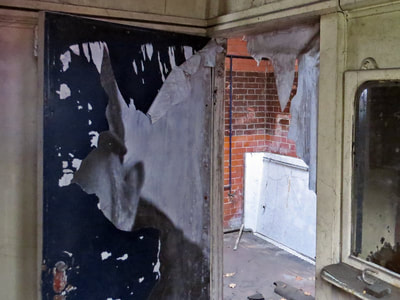 Derelict public toilet in North Woolwich E16