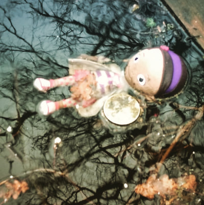 Discarded child's dolly. Ophelia in the Croydon Canal in Anerley