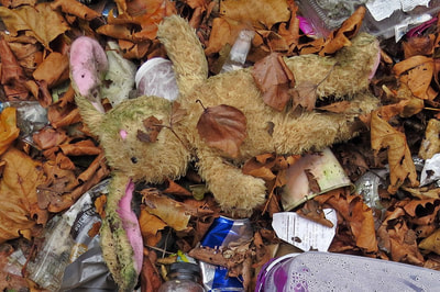 discarded cuddly toy in South London