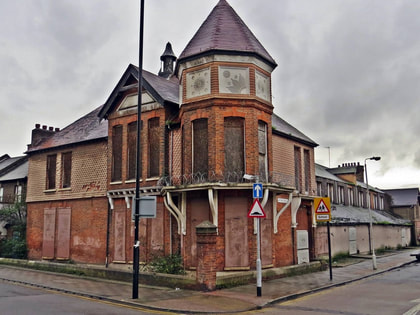 the derelict Tate Institute in Silvertown