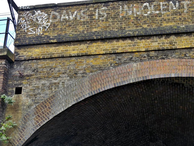 George Davis is Innocent graffiti in St Paul's Way, Mile End