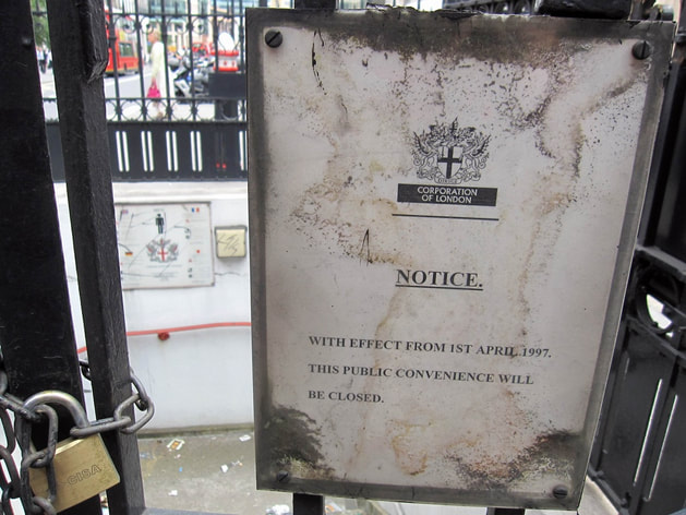 Derelict London Toilets - No longer a public convenience in High Holborn