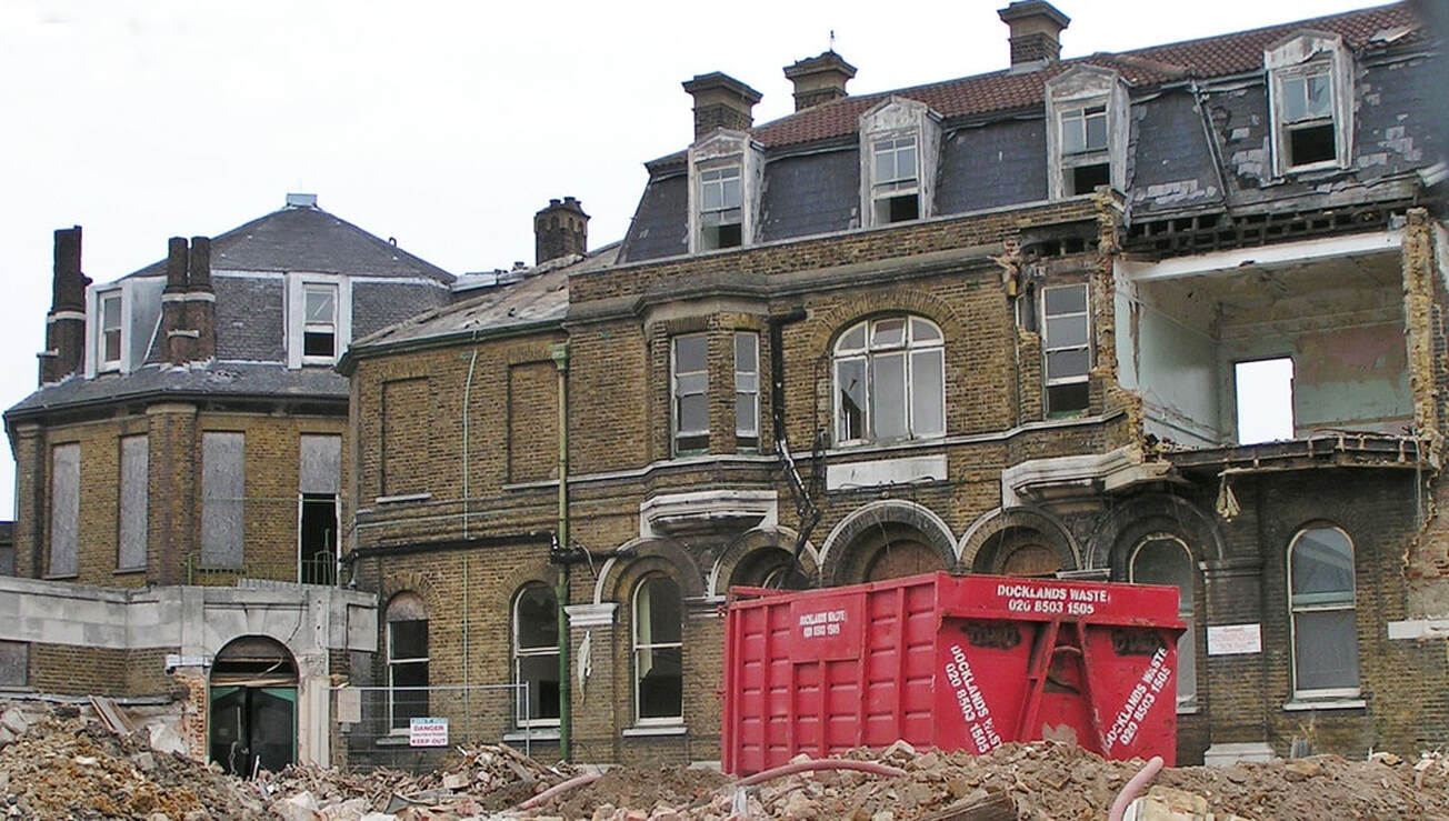 closed in 1996 as the Croydon General Hospital building was condemned due to its age and state of disrepair. It was demolished in 2004.