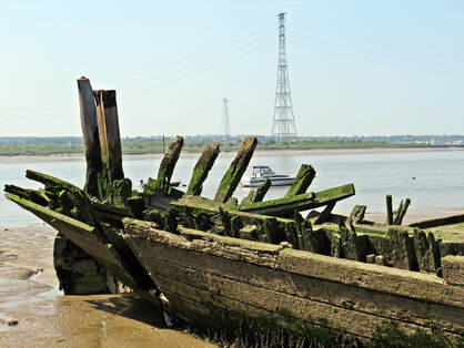 remains of the Gull Lightship in 2018. Then and Now photos can be seen in the Derelict London New Edition  published in June 2019 via Penguin Random House Books.