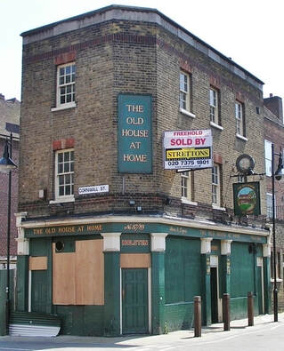 The Old House at Home pub in Watney Street is now a minimart. As seen on Paul Talling's Derelcit London walking tour of lost pubs of Shadwell and Stepney