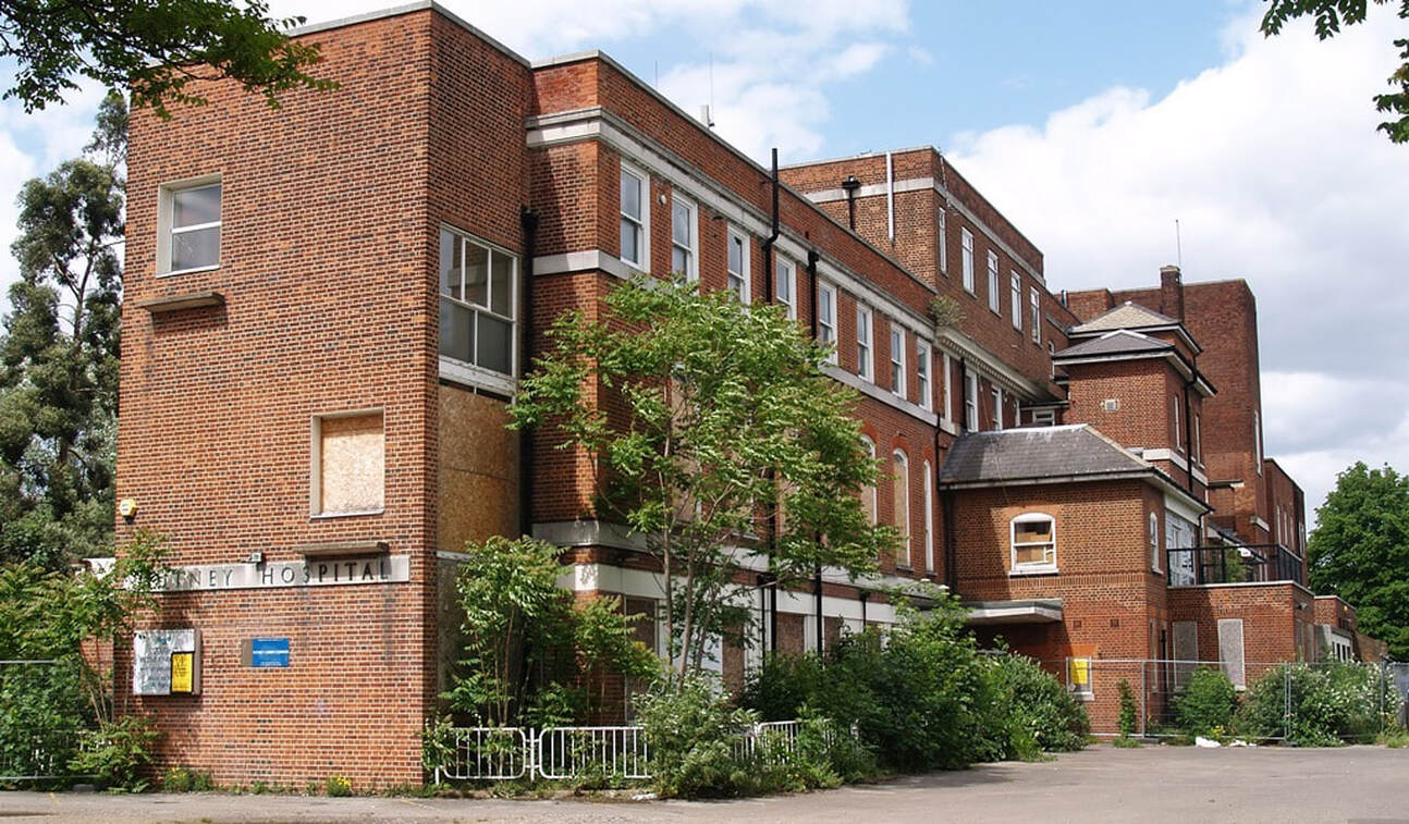 Picture of derelict Putney Hospital, SW15 prior to demolition