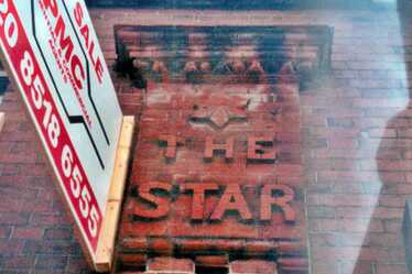 Brickwork of the closed down Star pub in Manor Park, Snowshill Rd