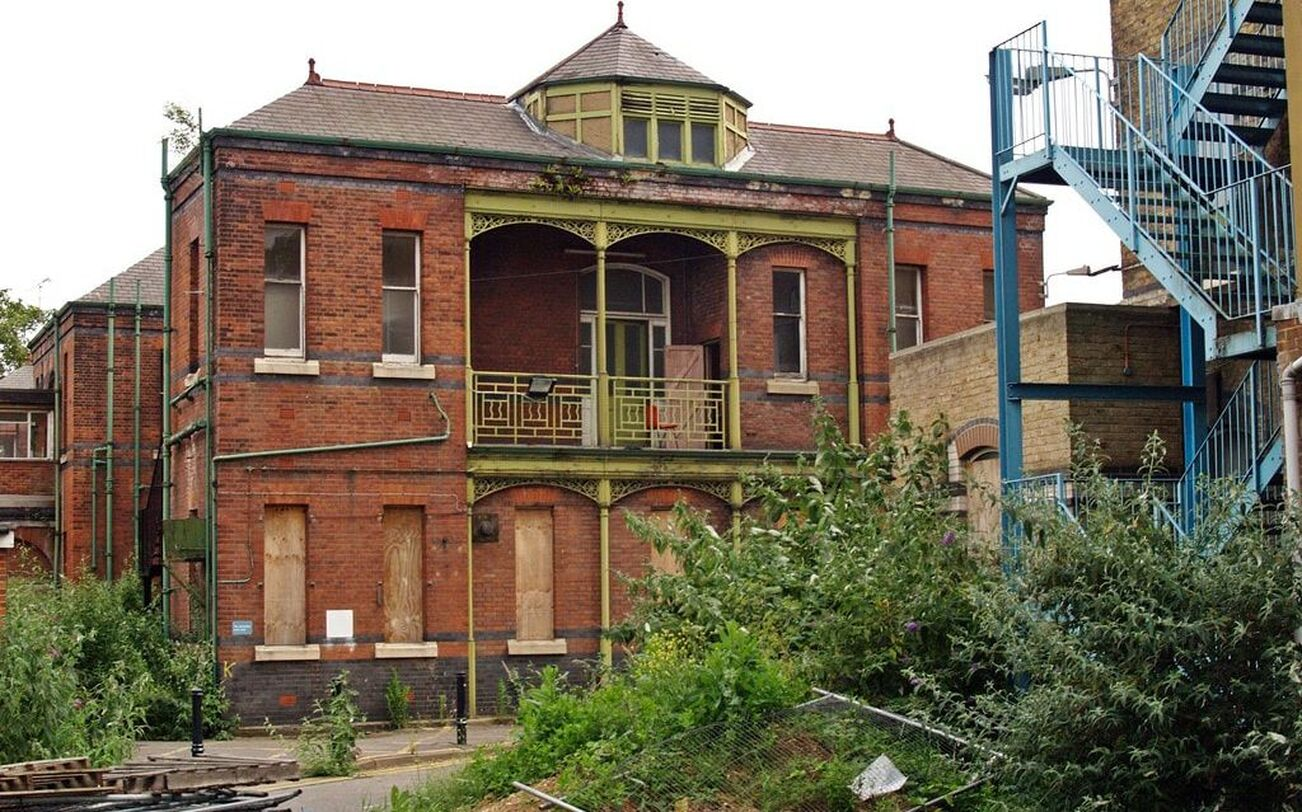 Picture of derelict London West Middlesex Hospital (aka New Brentford Workhouse) in Isleworth, London. TW7