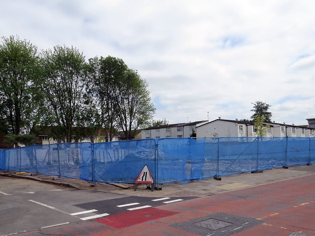 Vacant site of the former Royal Albert pub Silvertown  near London City Airport