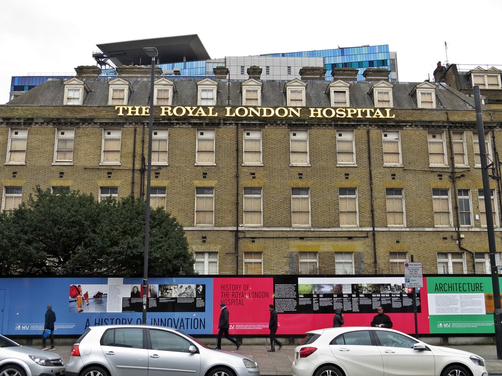 the Royal London moved to a new building to the rear of these premises on land belonging to some of the hospital's previously demolished facilities.