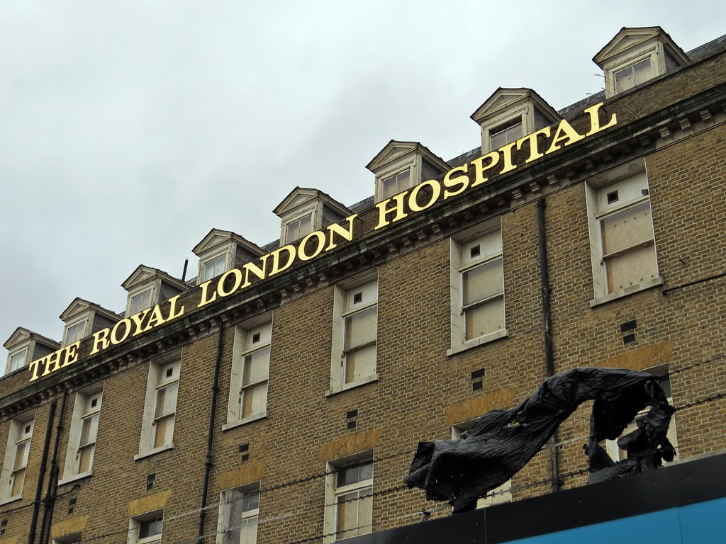 Royal London Hospital. From the first use of X-rays in a British hospital to running the first emergency helicopter service to carry a doctor on board, as well as extensive teaching facilities, the hospital played an important part in the development of heathcare.