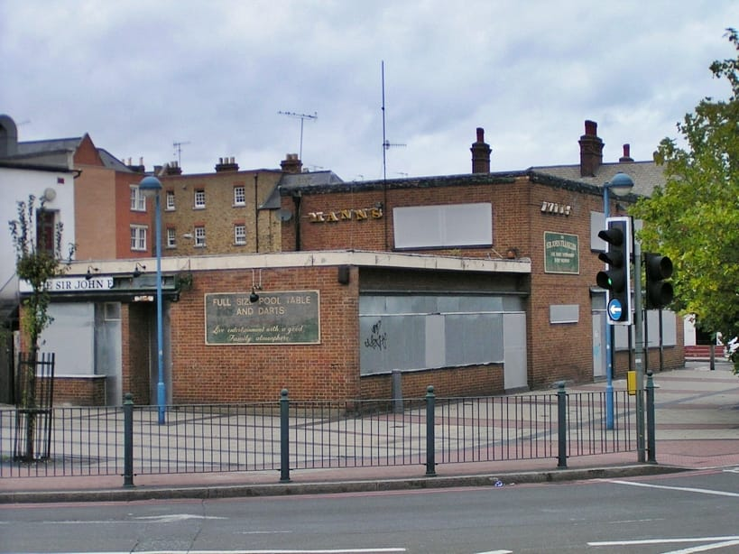 Sir John Franklin another derelict Poplar boozer and one time strippers pub