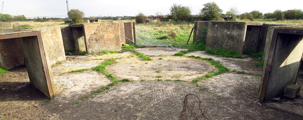 remains of the London Inner Artillery Zone in Slade Green, SE London