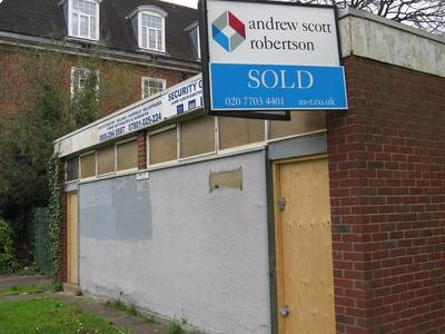 Derelict public toilets for sale between Crystal Palace and South Norwood in SE London