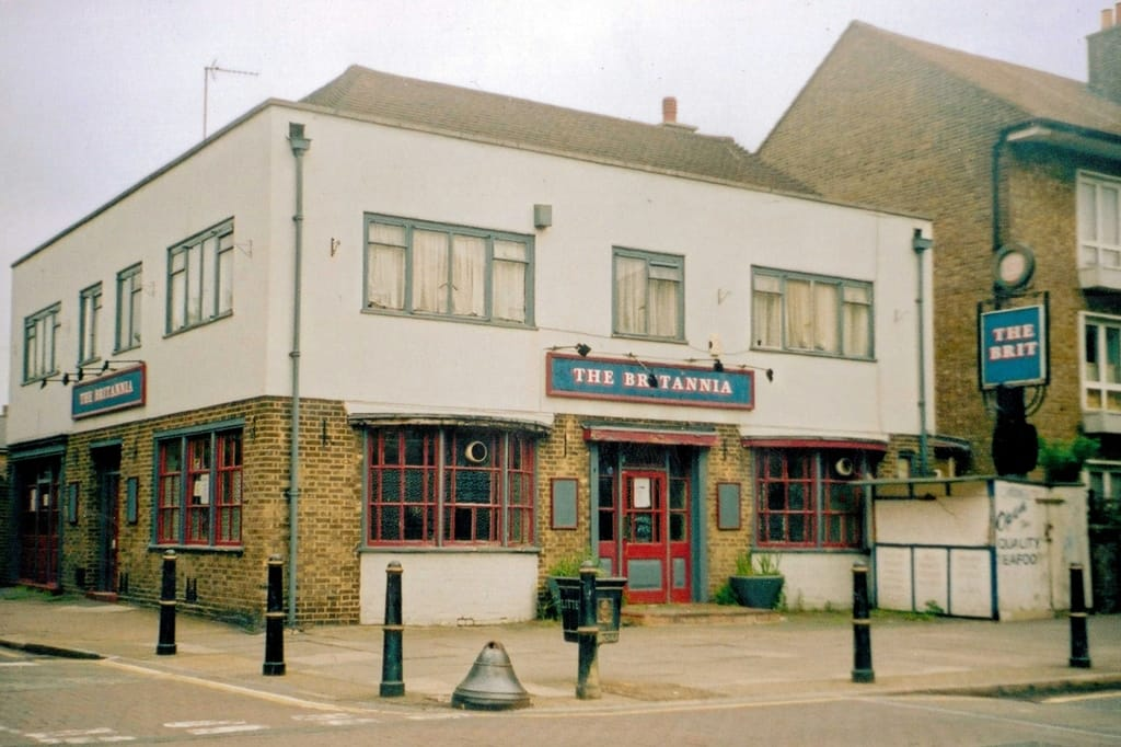 The Britannia on Globe Road closed down and demolished and replaced by Britannia Court