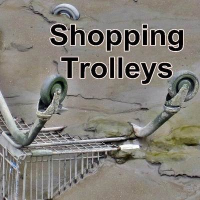 Derelict London abandoned supermarket trolley page