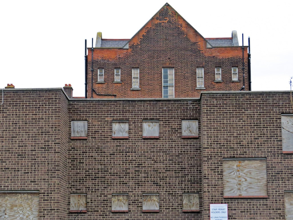 former hospital buildings gone to rack and ruin in London