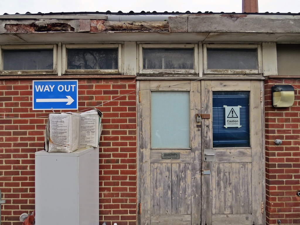 a condemned vacant  building at Whipps Cross Hospital, East London
